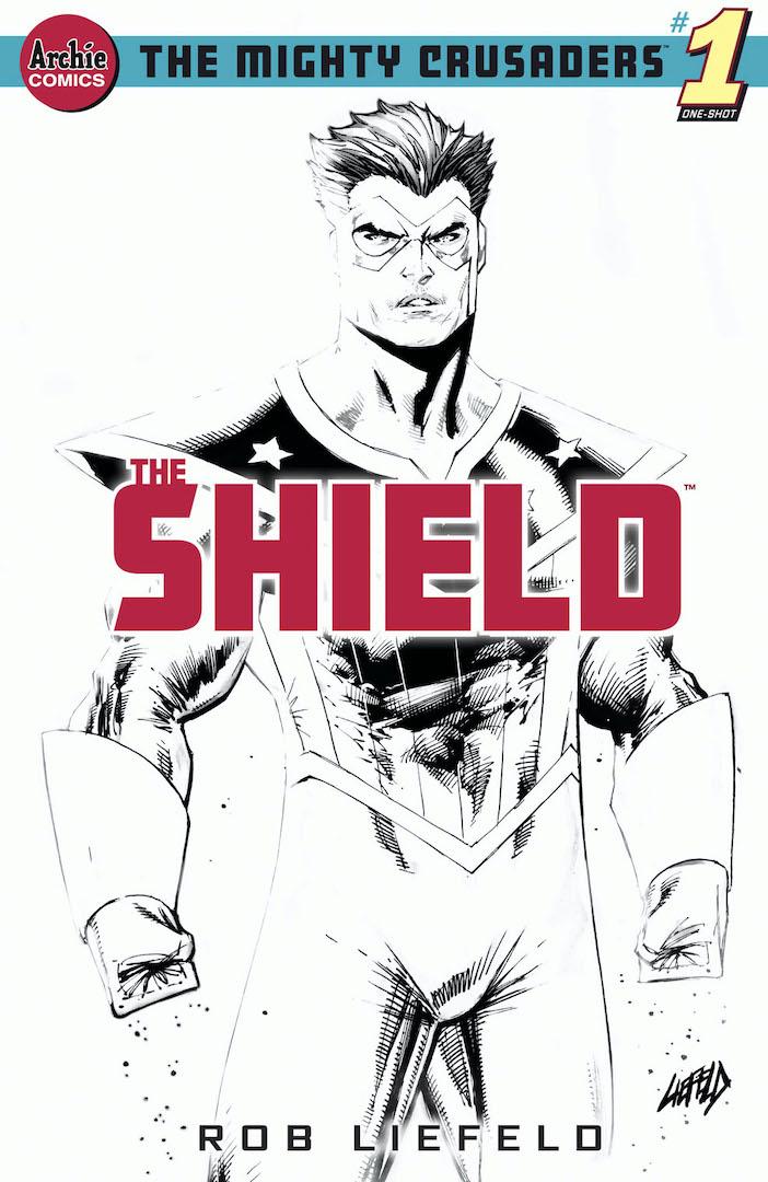 Portada de The Mighty Crusaders: The Shield # 1