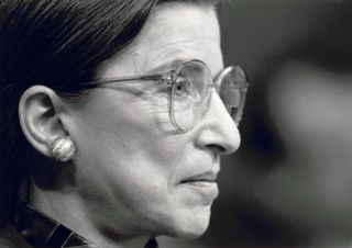 U.S. Supreme Court Justice Ruth Bader Ginsburg testifies at her confirmation hearing before the Senate Judiciary Committee in July 1993.