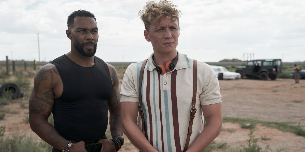 Omari Hardwick and Matthias Schweighöfer hanging out in Army of the Dead.