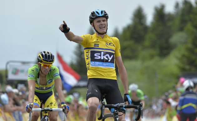 Chris Froome wins stage two of the 2014 Criterium du Dauphine
