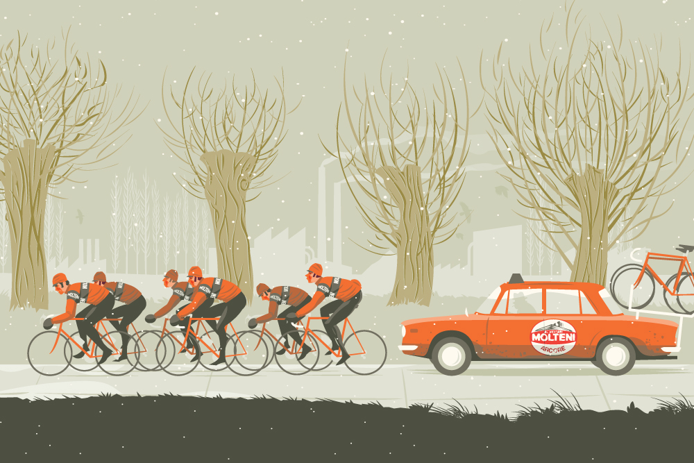 How they used to train: Eddy Merckx's chain gang