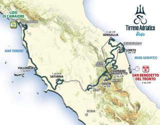 The map of the 2020 Tirreno-Adriatico