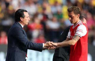 Mesut Özil Unai Emery Arsenal
