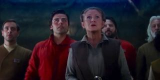 Leia Organa and Poe Dameron in Star Wars: The Force Awakens