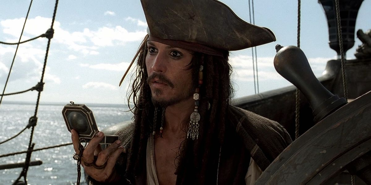Johnny Depp as Jack Sparrow in Pirates of the Caribbean Curse of the Black Pearl