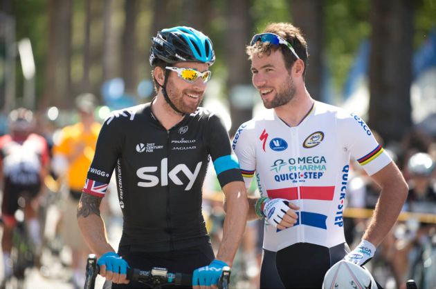 Bradley Wiggins and Mark Cavendish, Amgen Tour of California, Stage 1