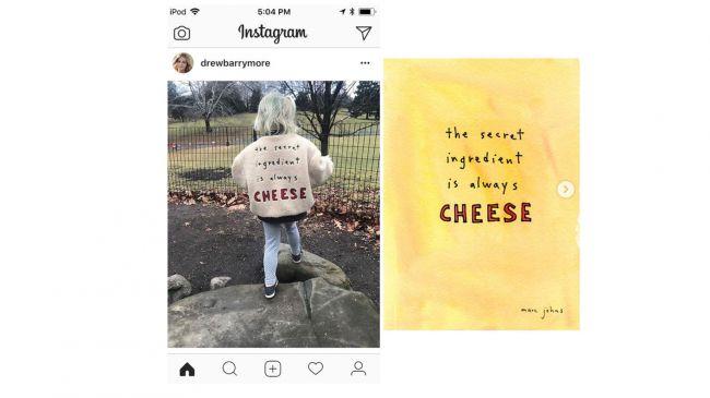 Drew Barrymore's Instagram post