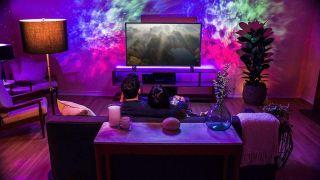 Star projector lighting up room