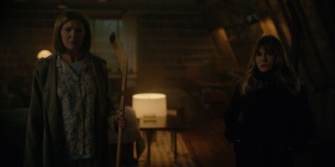 Joan Allen and Jennifer Jason Leigh in 'Lisey's Story'.