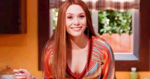Elizabeth Olson as Wanda Maximoff in 'WandaVision.'