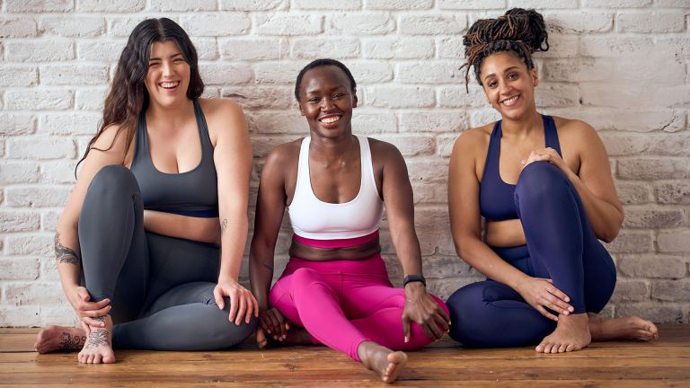 Women doing yoga in Yogamatters Reclaim Clothing Collection