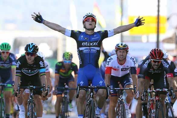 Gianni Meersman (Etixx-QuickStep) gets off the mark in Spain.