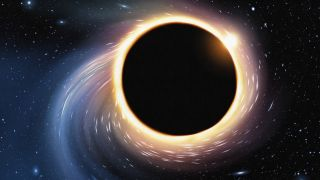 Illustration of a black hole.