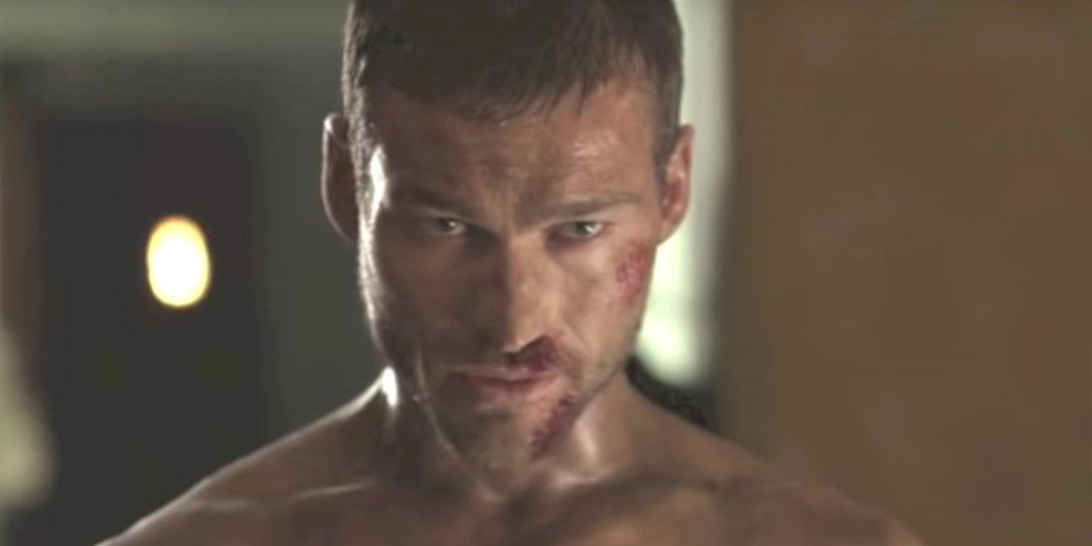Spartacus making plans in Season 1 of Spartacus