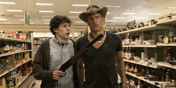 Columbus and Tallahassee shopping and killing zombies in Zombieland