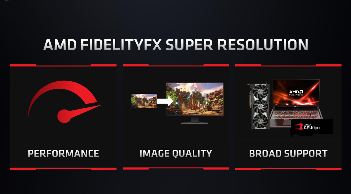 AMD Debuts FidelityFX Super Resolution to Take on DLSS at Computex