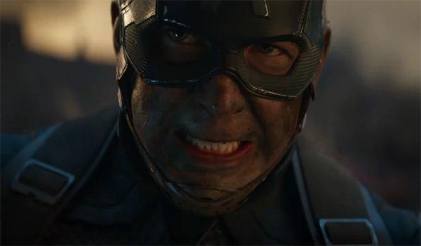 Captain America grimacing in battle in Avengers: Endgame