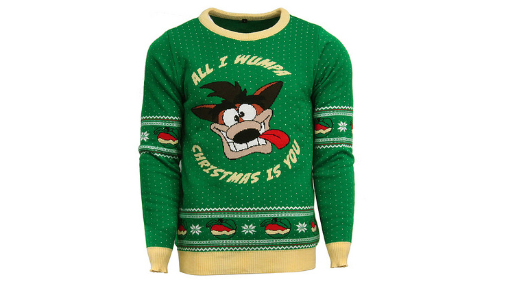 Crash Bandicoot Official Ugly Christmas Sweater