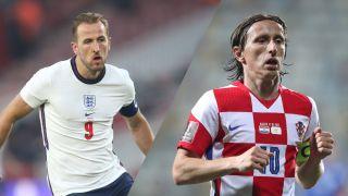 live stream England vs Croatia at Euro 2020- harry kane and luka modric