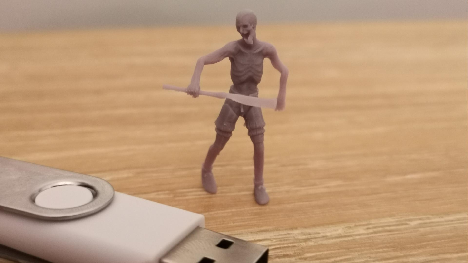A zombie villager printed on the Elegoo Mars 2 Pro