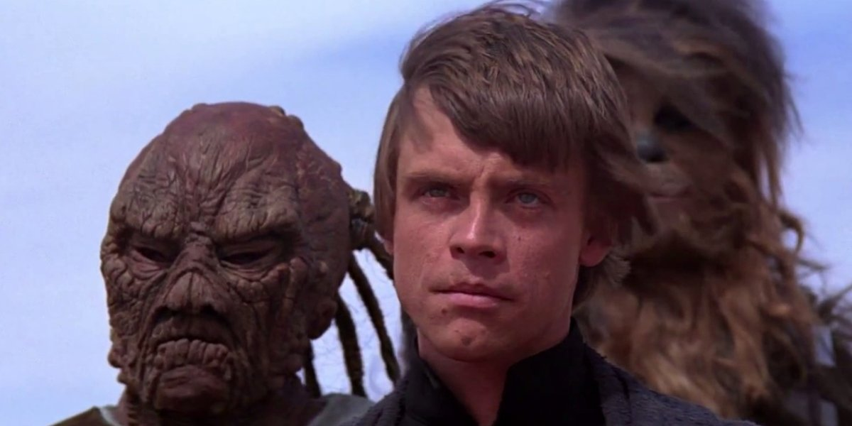 Mark Hamill as Luke Skywalker in Star Wars: Return of the Jedi