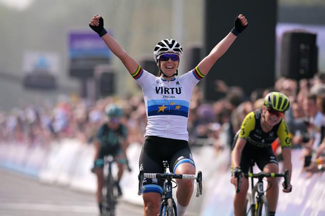 Marta Bastianelli (Virtu) wins Tour of Flanders 2019
