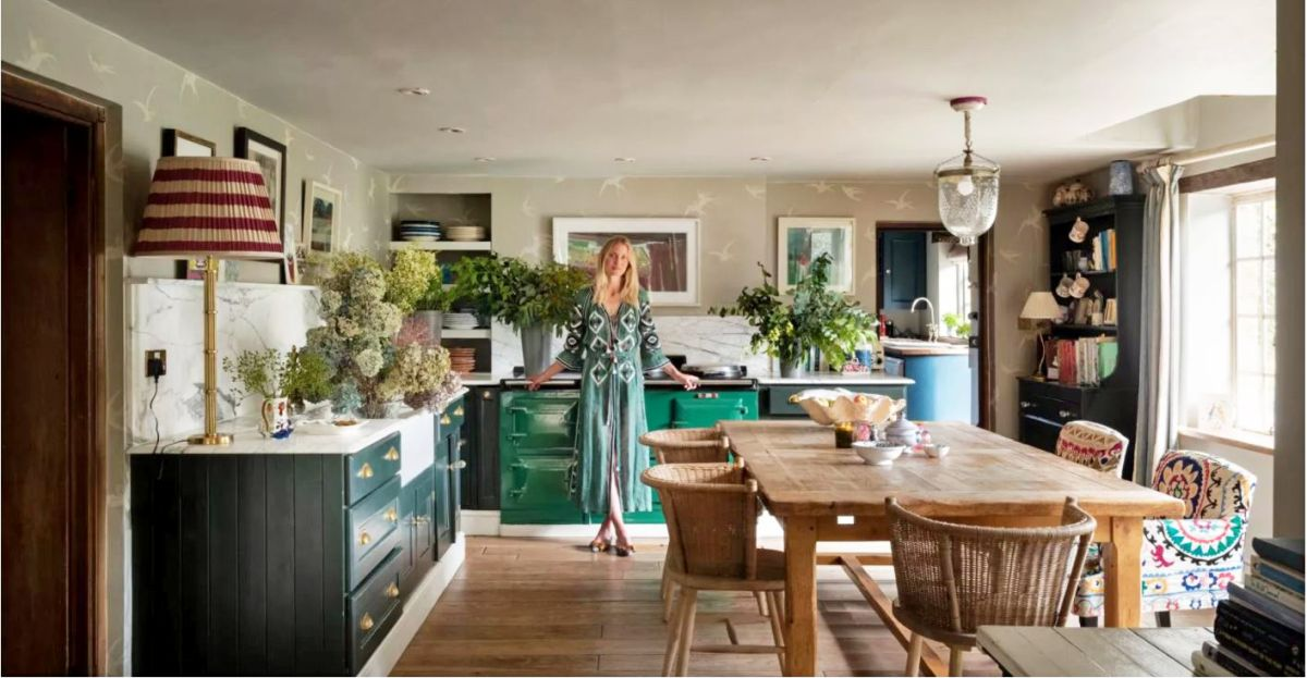 Floral stylist Willow Crossley shares her kitchen design secrets, and an unconventional wallpaper tip