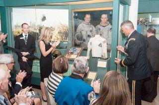 Ed White's Daughter Receives Lunar Sample