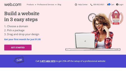 Web.com's homepage