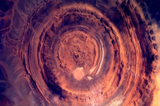 Dutch astronaut Andre Kuipers snapped this photo of a lava crater in Mauritania from the International Space Station.