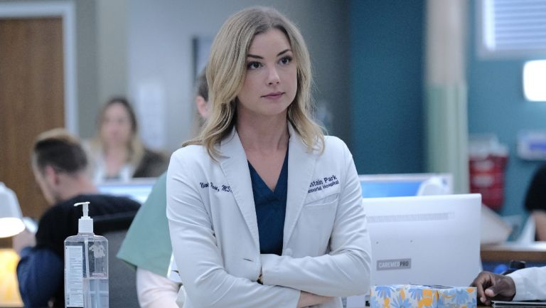 """THE RESIDENT: Emily VanCamp in the """"Whistleblower"""" fall finale episode of THE RESIDENT airing Tuesday, Dec. 17 (8:00-9:00 PM ET/PT) on FOX."""