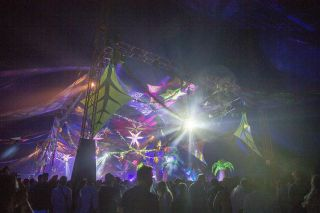 Colour Sound Supplies Lighting for Wildlife Festival