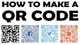 """Graphic: """"How to make a QR code"""""""