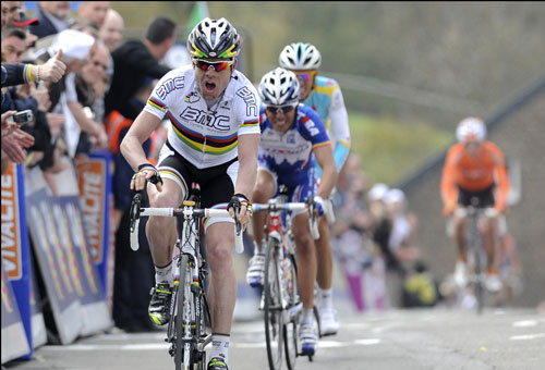 Cadel Evans wins, Fleche Wallonne 2010