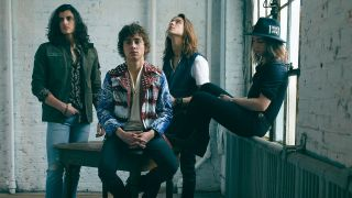 a press shot of Greta Van Fleet