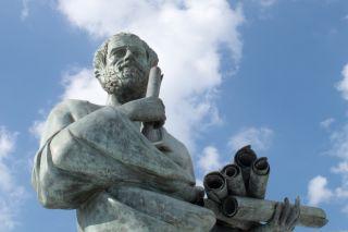 statue of greek philosopher Aristotle