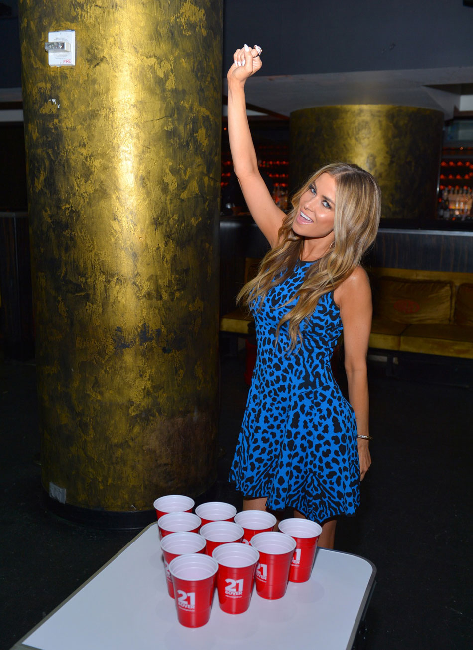 Check Out Carmen Electra Playing Beer Pong At 21 & Over Premiere #27213