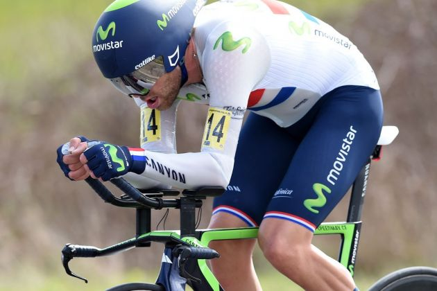 Alex Dowsett wins the RTTC Classic Time Trial Series round in Essex. Note the special fabrics on the skin suit
