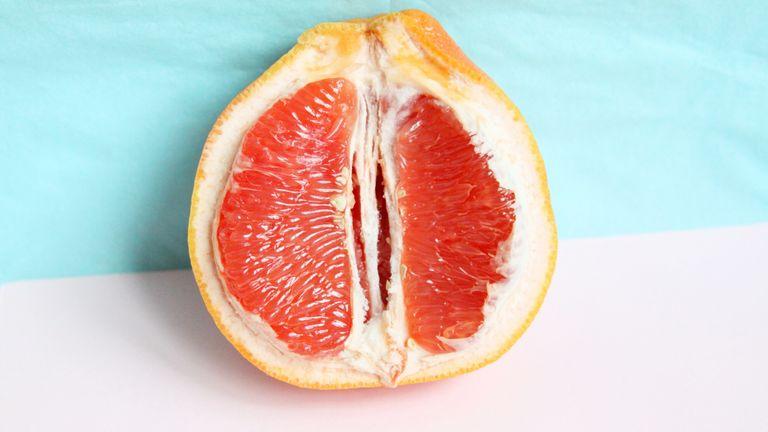 fruit representing vagina