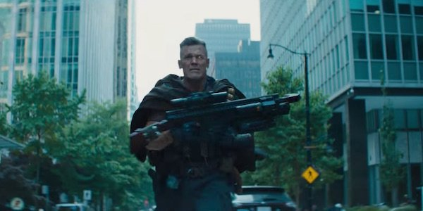 Cable running with gun in Deadpool 2