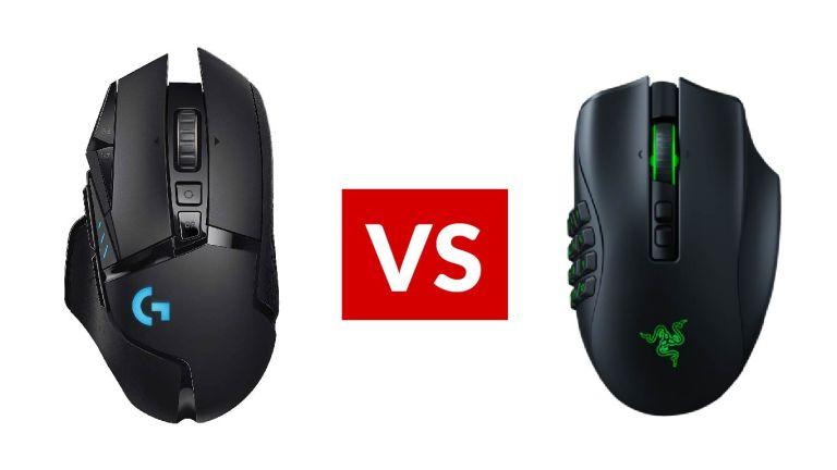 Logitech G502 Lightspeed vs Razer Naga Pro