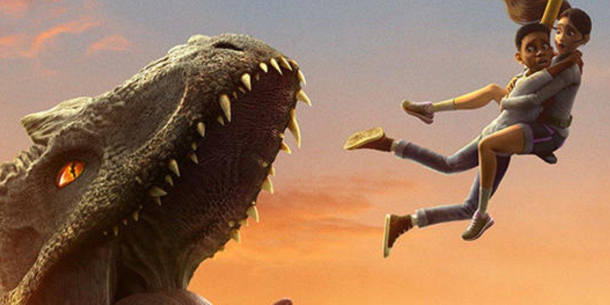 Escaping a dinosaur Jurassic World: Camp Cretaceous netflix