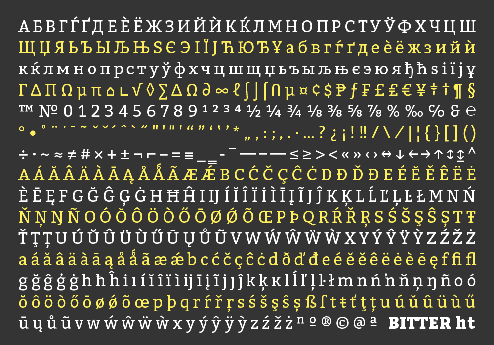 Best free fonts: Bitter