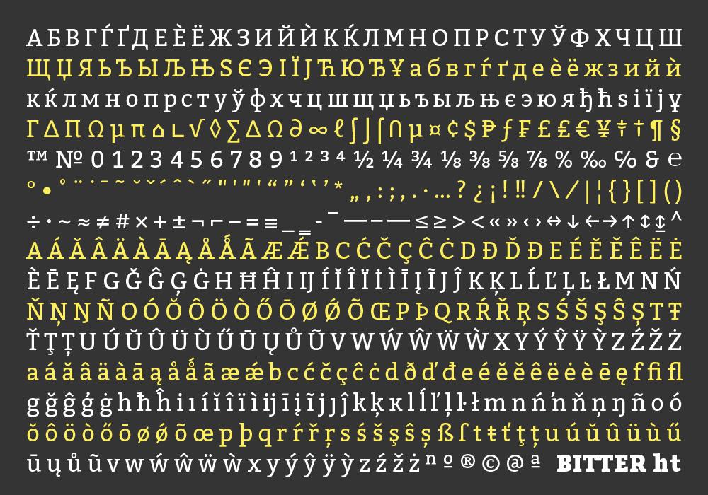 Best free fonts: Bitter