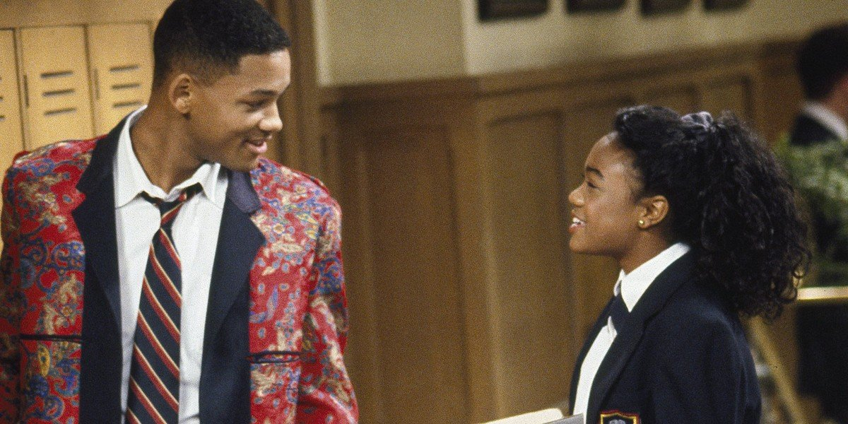 Will Smith and Tatyana Ali in The Fresh Prince of Bel-Air