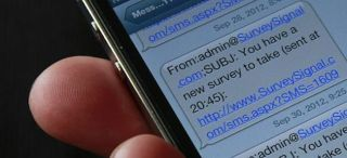 Smartphone study used links embedded in text messages.