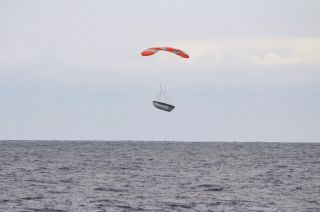 Payload Fairing Floating Down