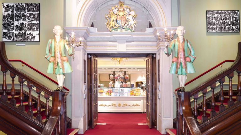 John Virtue paintings on show at Fortnum & Mason store in London