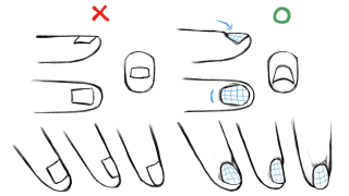 How to draw hands tips