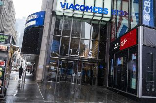 ViacomCBS building in New York's Times Square